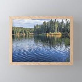 Rippled Reflections on Clear Lake Framed Mini Art Print
