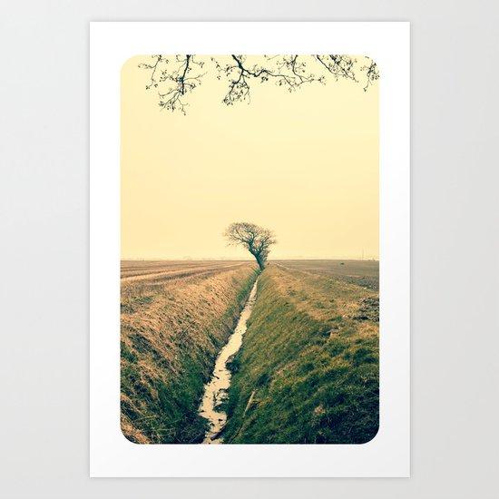 Colour Landscape Triptych III Art Print