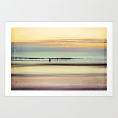 an evening at the beach Art Print