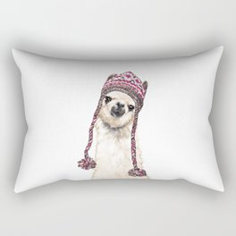 The Llama with Hat Rectangular Pillow