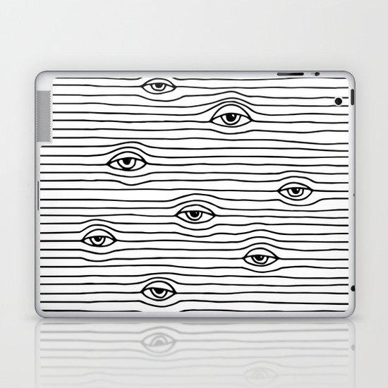 PEEPING TOM [BLK & WHT] Laptop & iPad Skin