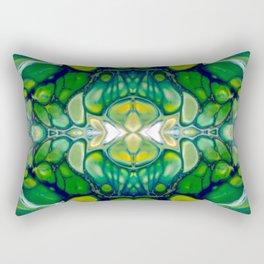 Bright Green Abstract Design Art Rectangular Pillow