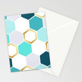honeycomb blue Stationery Cards