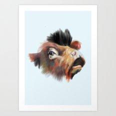 Crazy Cow Art Print