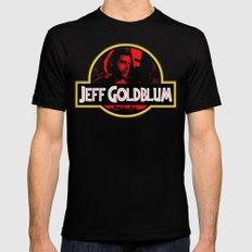 JURASSIC GOLDBLUM Mens Fitted Tee Black LARGE