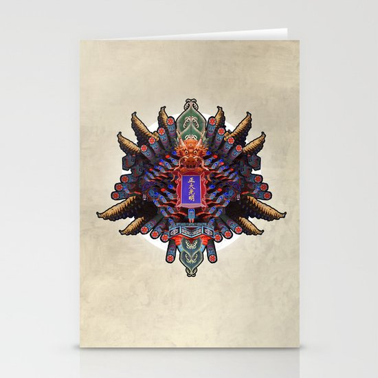 MIXING OF CHINESE FORM (01-fever) Stationery Cards