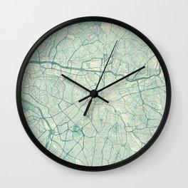 Sao Paulo Map Blue Vintage Wall Clock