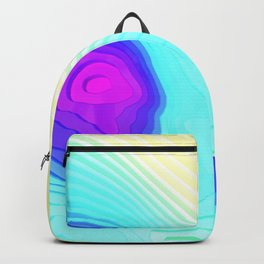 Abstract Colorful Yellow Cyan Stripes Surface Backpack