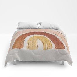 Vintage rainbow painting Comforters