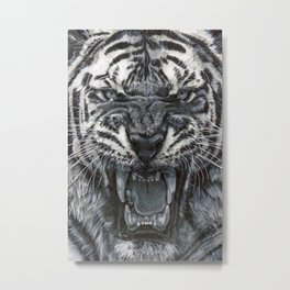 Tiger Roar! - By Julio Lucas Metal Print