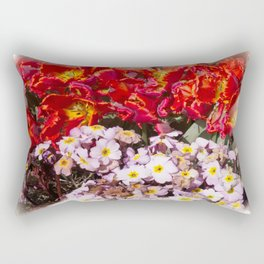 Flowers in town Rectangular Pillow