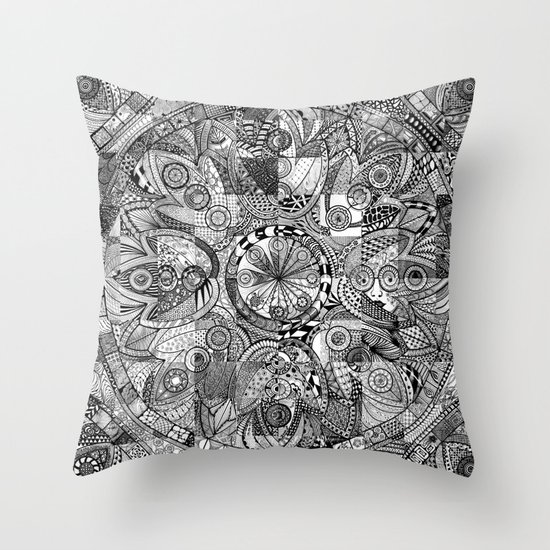 Mandala 5 Throw Pillow