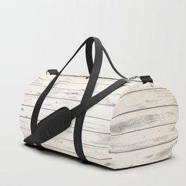 Light Natural Wood Texture Duffle Bag