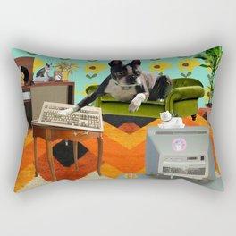 Vintage Dog collage Rectangular Pillow