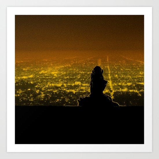 Citylights Art Print