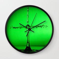 green splash Wall Clock