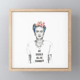 Frida Kahlo Feminist Framed Mini Art Print