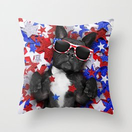 USA DOG Throw Pillow