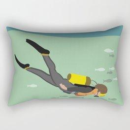 Going Deep Rectangular Pillow
