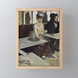 The Absinthe Drinker by Edgar Degas Framed Mini Art Print