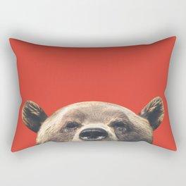 Bear - Red Rectangular Pillow