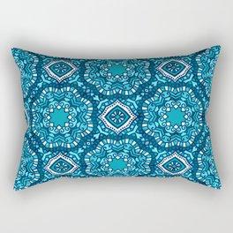 Moroccan Tile Pattern - Turquoise Rectangular Pillow
