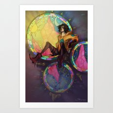 Hiding High Art Print