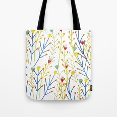 Floral pattern, illustration pattern, flowers, prretty Tote Bag