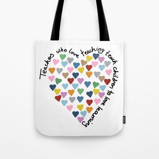 Hearts Heart Teacher Tote Bag