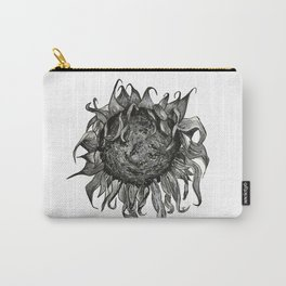 Wilted Sunflower Carry-All Pouch