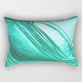 Deep sea blue glass texture Rectangular Pillow