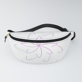 Ombre Lotus Outline Fanny Pack