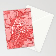 Vintage Las Vegas Red Stationery Cards