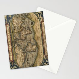 Antique Map of North and South America Stationery Cards