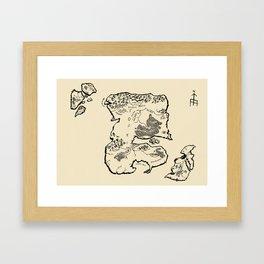 Map of Mu Framed Art Print