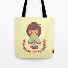The Kokeshi Girl Tote Bag