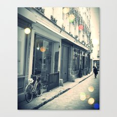Bicycle and cobblestone Canvas Print