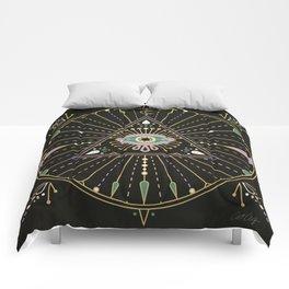 Evil Eye Mandala – Black Comforters