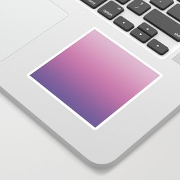 Pink Ultra Violet Ombre Gradient Pattern Sticker