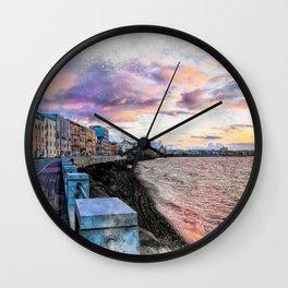 Trapani art 2 Wall Clock