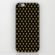 Chic Glam Gold and Black Stars iPhone & iPod Skin