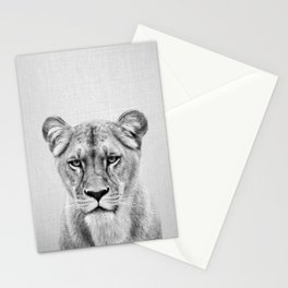 Lioness - Black & White Stationery Cards