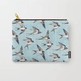 Blue Sky Swallow Flight Carry-All Pouch