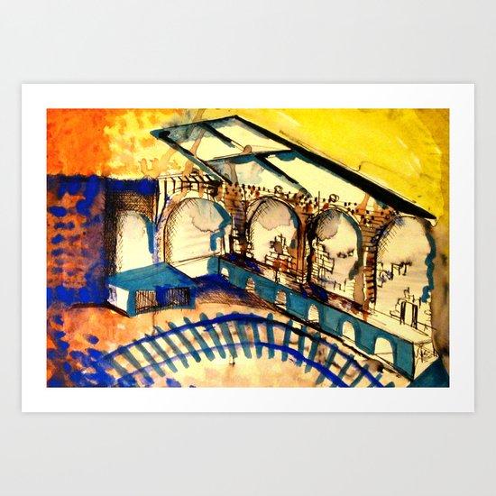 set drawing / Hamletmachine Art Print
