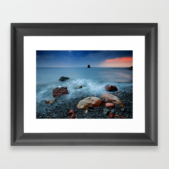 Saltwick Bay Framed Art Print