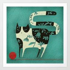 RED YARN Art Print