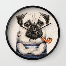 Mr.Pug Wall Clock