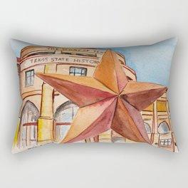 The Bullock Texas State History Museum Watercolor Rectangular Pillow