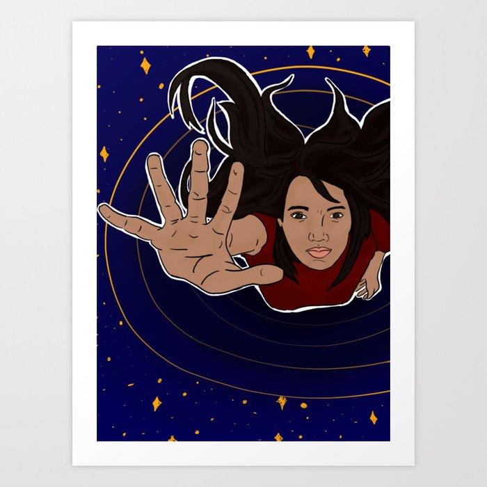 Flying or Falling? Art Print