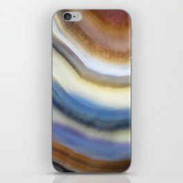 Colorful layered agate 2075 iPhone Skin